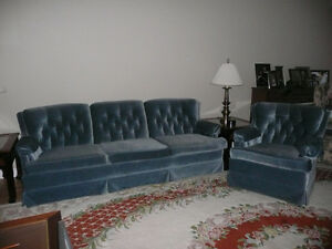 3 Seater Sofa with Matching Chair.