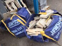 Free firewood! Log burner wood for fire. 2 tonne bags bonfire night