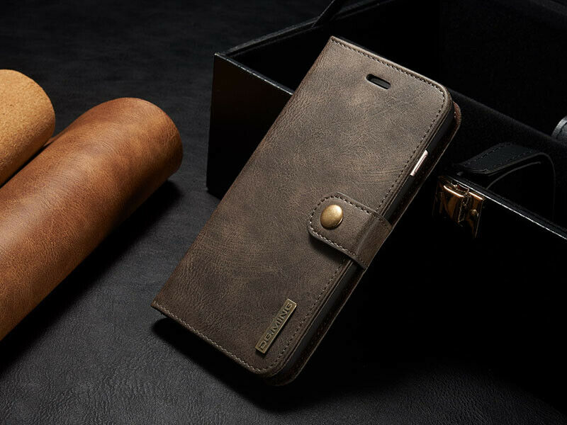 Retro Leather Removable Wallet Magnetic Flip Case Cover ...