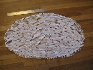 1 Large Oval Doily