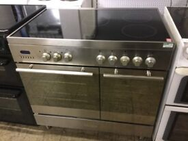 Baumatic Silver Stainless Steel Electric cooker