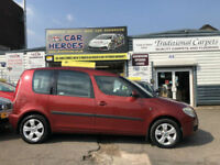 2007 SKODA ROOMSTER ( 2 ) 1.4 16v PETROL 66,000 MILES ( AA ) WARRANTY INCLUDED
