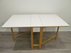 Folding Dining Table with Two Drawers