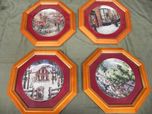 LAURA BERRY FRAMED COLLECTOR PLATES - $45.00 EACH