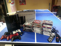 PS3 80GB + 5 controllers w/ over 40 games