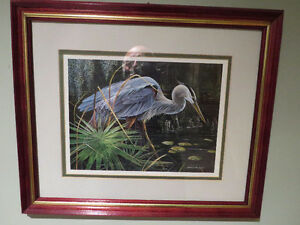 "Jan Martin McGuire ""Heron"" Limited Edition Print"