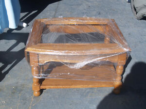 Glass top Coffee Table with end sections