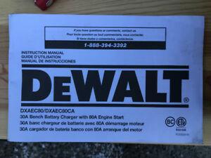 Dewalt battery charger - barely used