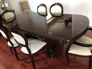 Dining Room Table 6 Chairs And Chest Hutch