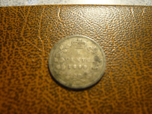 Vintage Canadian 1890-H, 5 Cent Coin Very Good Condition!