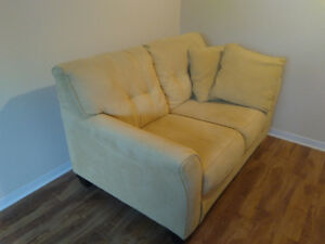 Yellow fabric couch