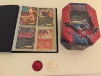 Pokemon Playing Cards with book and tin!