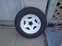 New trailer tire with rim