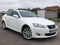 2009 58 LEXUS IS 2.2 220D SE-I FINISHED IN STUNNING WHITE WITH HEATED PLUS COOLE