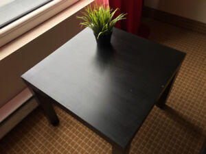 LACK side table in black (IKEA) — good condition
