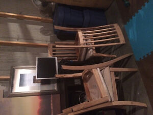Set of 4 Wood Dining Chairs
