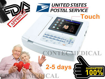Usa Fedex Digital 12-lead Touch Ecgekg Machine Portable Electrocardiograph Fda