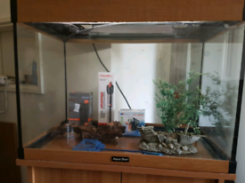 Fully set up 154litre fishtank with stand