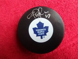 SHAYNE CORSON Toronto Maple Leafs Autographed Puck With COA