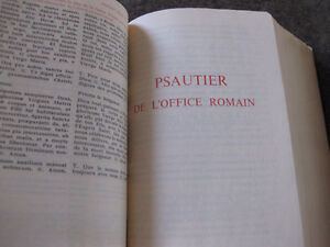 BREVIERE ROMAIN  LATIN FRANCAIS 2 TOMES West Island Greater Montréal image 2