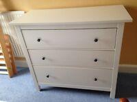 IKEA hemnes white chest of drawers (3 drawers)