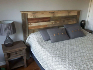 Rustic Headboards - custom made pine barnboard reclaimed
