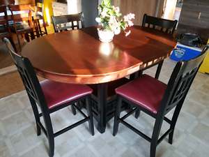 Large Bar Height Dining Table