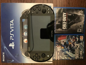 PS Vita with Gundam and Call of duty games. All new 10/10 cond