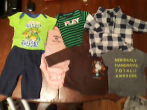 Big bag FULL of boys clothes 3-6 month