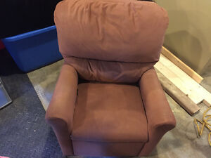 Kids micro suede chair