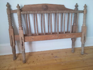 Original Antique spindle bed with rails exceptionally well made