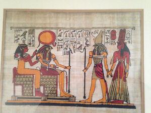 ORIGINAL EGYPTIAN PAINTINGS ON PAPYRUS