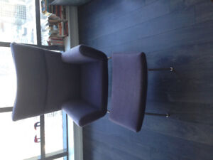 Beautiful Designer Chair for Sale With Free Ottoman