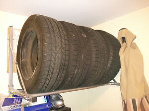 4 BFGoodrich Winter Slalom KSI tires with steel rims