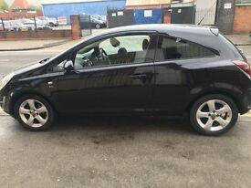Black Vauxhall CORSA SXI
