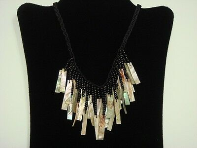 Handmade Red Abalone Shell Stick Shell Necklace 20   5075