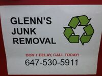 GLENN'S JUNK REMOVAL – CALL OR TEXT GLENN @ 647-530-5911