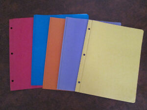 Used Report Covers in Various Colours