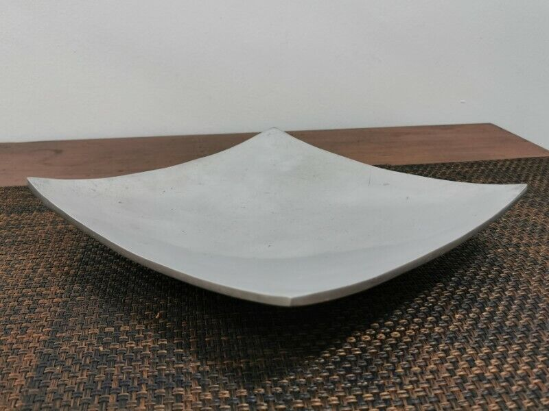 Decorative Silver Pewter Chrome Square Tray Platter Dish A