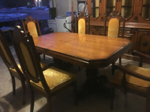 Italian Oak Dining Room Set