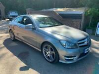2012 (12) MERCEDES C220 CDI AMG SPORT COUPE AUTO + FULL HEATED LEATHER