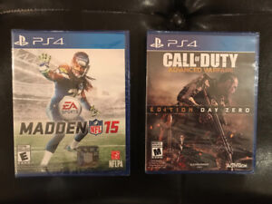 PS4 game starts nfl madden 15 and call of duty advanced warfare