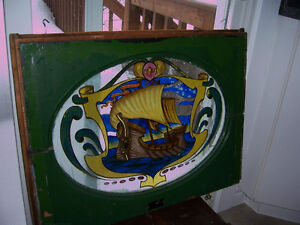 Antique stained glass, reverse painted window Kingston Kingston Area image 3