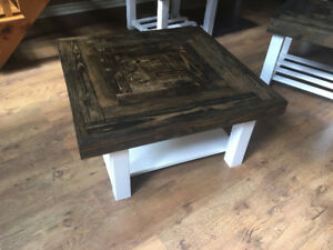 Custom Rustic Coffee Table & End Tables