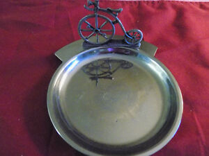 Change tray with bicycle decoration.