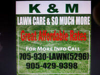 """K & M LAWN CARE & SO MUCH MORE""!!!!!!!!!!!"