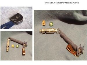 1960's GIRL GUIDE (CDN) PIN, WHISTLE & POUCH