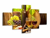 Multi panel large canvas print - perfect picture for any kitchen - NEW WITH BOX