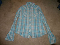 Large Bluenotes Long Sleeve Button Up Shirt