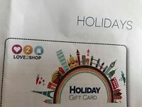 LOVE2SHOP TRAVEL GIFTCARD